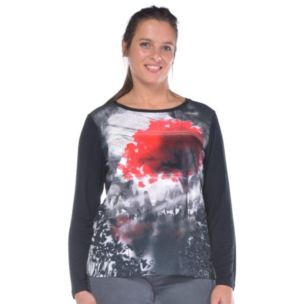 maglia-donna-curvy-gaia-con-fantasia-frontale-nero-nr-rosso
