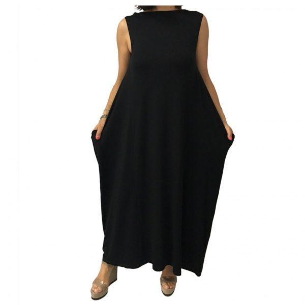 tattsu-abito-donna-lungo-nero-jersey-mod-s7-010-90-viscosa-10-elastan-unico